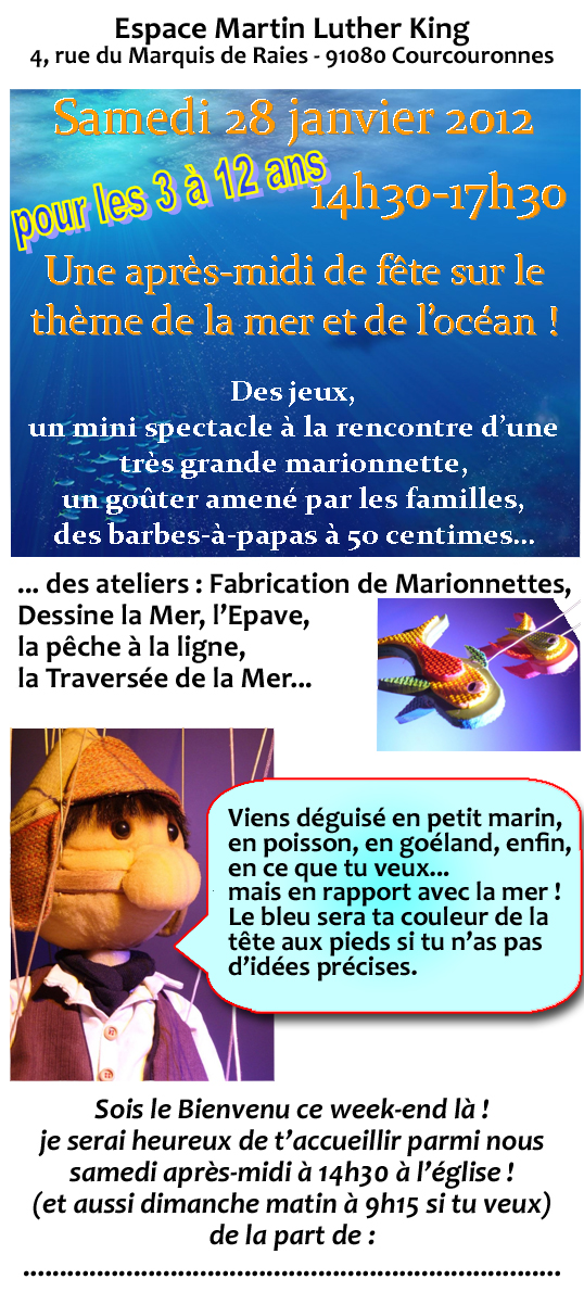 Flyer d'invitation