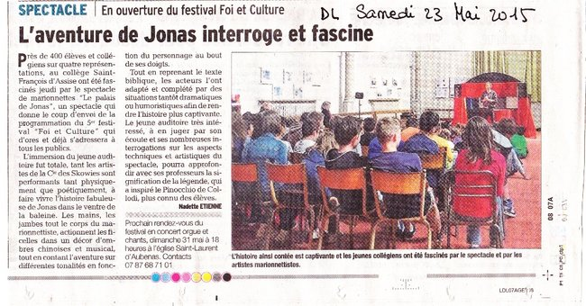 Spectacle « Jonas » foi & culture 2015